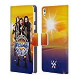 Official WWE AJ, Orton, Bray Wrestlemania 33 Superstars Leather Book Wallet Case Cover For Sony Xperia Z5 / Z5 Dual