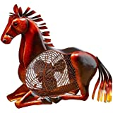 DecoBREEZE Horse Figurine Fan Two-Speed Electric Circulating Fan
