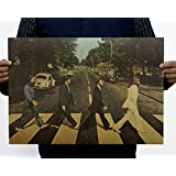 Fange The BEATLES - Abbey Road Antique Vintage Old Style Decorative Poster Print Wall Decor Decals 20''x13.9''