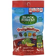 Black Forest Organic Juicy Center Fruity Medleys Snacks, Mixed Berry, 28 Count (Pack of 6)