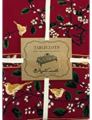 April Cornell Red Holiday Christmas Songbird Tablecloth 60 X 120