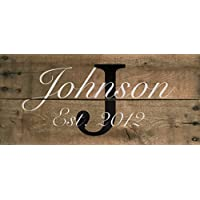 "Ready to Hang Custom Family Name year established handmade wedding housewarming sign - 22"" x 10"" Custom Pallet Sign Decor"