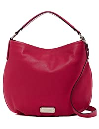 Marc by Marc Jacobs New Q Hillier Leather Hobo Shoulder Bag, Peony