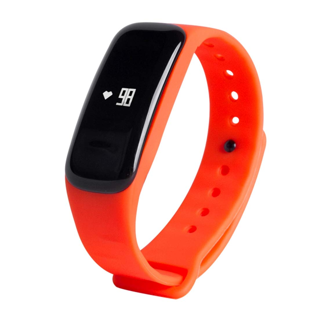 orange HAWEEL Fitness Tracker HR, M8 Blood Pressure Heart Rate blueeetooth Smart Bracelet, Pedometer Sleep Monitor Call Reminder Distance Calories Blood Oxygen(Black)