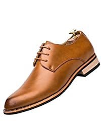 Fumx Men's Genuine Leather Oxford Shoes Business Dress Shoes