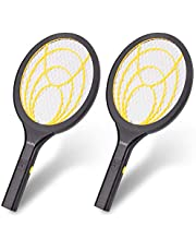 Mafiti Large Bug Zapper ,Electric Fly Killer ,Mosquito Swatter 2 Pack,Insect Killer, Bug Zapper Racket for Indoor and Outdoor Party,Camping Pest Control,Unique 3-Layer Safety Mesh Safe to Touch 4*AA Batteries not Included
