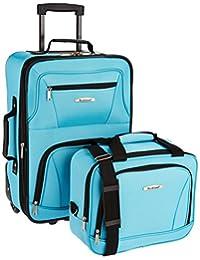 ROCKLAND 2-Piece Luggage Set, Turquoise, One Size