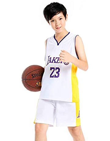 Boys and Girls Basketball Jerseys Basketball Vest Summer Shorts Los Angeles Lakers Lebron James #23 Color : B, Size : L NBA Jerseys ZAIYI-Jersey Childrens Basketball Wear