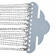 Rockin Beads Silver Plated Lobster Clasp Link Chain Necklaces 24 Inch by Rockin Beads (TM)
