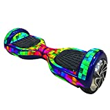 Elisona-Skin Cover Decal Sticker for 6.5 inch Smart Self Balancing Scooter Board Hoverboard Colored Blocks