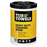 """Wonder Works Tub O Towels Heavy-Duty 10"""" x 12"""" Size Multi-Surface Cleaning Wipes, 90 Count Per Canister"""