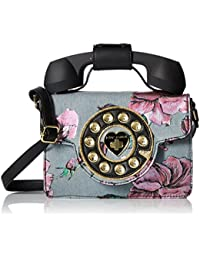 Mini Denim Flower Print Phone Bag