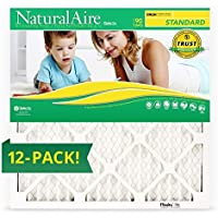16 x 20 x 1, Naturalaire Standard Merv 8 Pleated Air Furnace Filter, Box of 12 Filters by NaturalAire