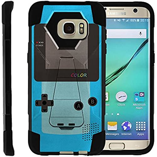 Samsung Galaxy S7 Edge | SHOCK Series Impact Hard Rubber Durable Unique Creative Cover, by Miniturtle - Blue Gameboy Color Sales