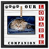 Pet Picture Frame for Dog or Cat. 4x6 and 5x7