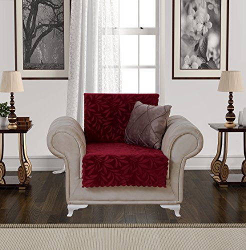 Arm Chairs Burgundy Polyester Fabric - Anti-Slip Armless Pet Dog Sofa Cover Couch Covers Sectional Slipcover Non-Slip Arm-chair Recliner Chair Love-seat Furniture Protector Futon Shield 3 Seater T Cushion L Shaped Leather (Chair/Burgundy)