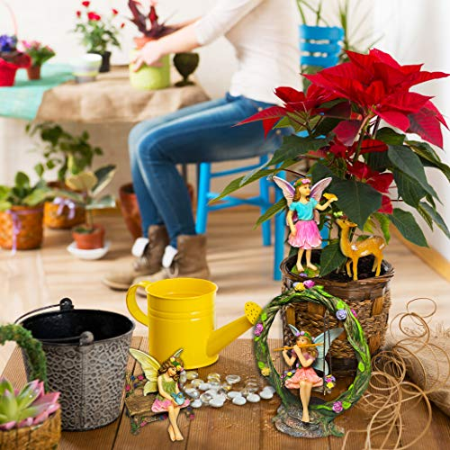 Mood Lab Fairy Garden Kit - Miniature Figurines with Accessories Swing Set of 6 pcs - Hand Painted for Outdoor or House Decor by Mood Lab (Image #3)