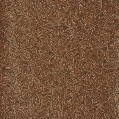 54'' Wide Faux Leather Fabric Tooled Floral Saddle / Nugget By The Yard Tooled Faux Leather