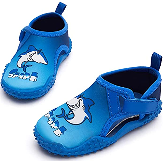 RUNSIDE Kids Water Shoes Quick Dry Non-Slip Toddler Water Skin Barefoot Sports Swimming Beach Pool Shoes for Boys & Girls