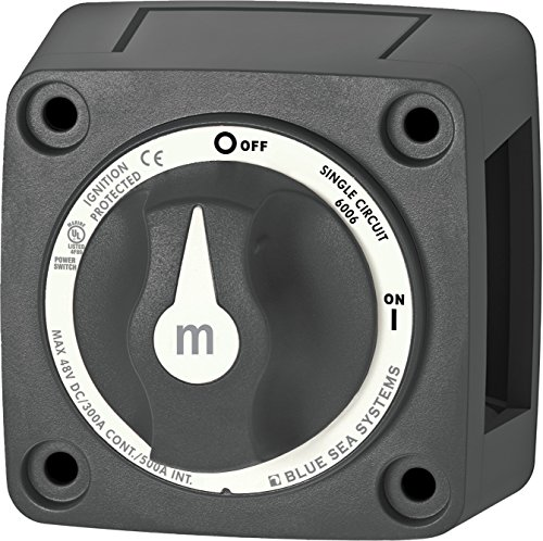 - Blue Sea Systems m-Series Mini On-Off Battery Switch with Knob, Black