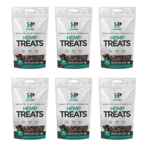 HempPet Organic Beef Liver Hemp Infused Treats for Dogs