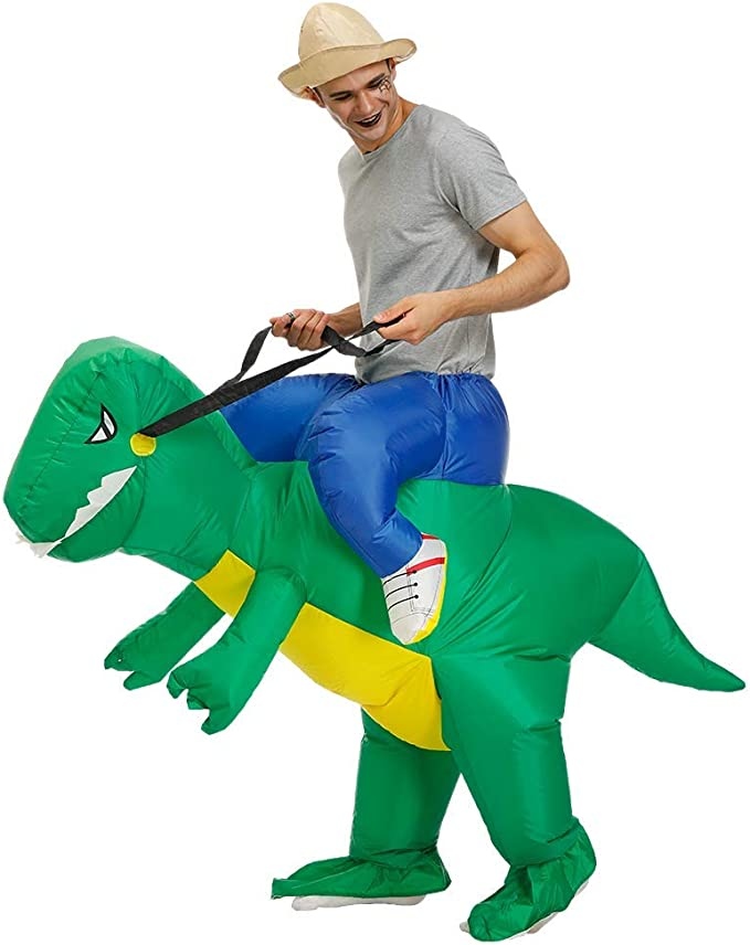 Amazon.com: Inflable adultos Carry On de dinosaurio Animal ...