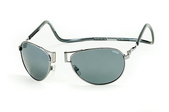 fab46b5954 Amazon.com  Clic Magnetic XXL Aviator Metal Polarized Sunglasses ...