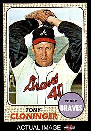 571be4fd6 1968 Topps   93 Tony Cloninger Atlanta Braves (Baseball Card) Dean s Cards  7 -