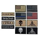 Bundle 12 Pieces USA Flag Patch Thin Blue Line