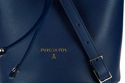 Patrizia Pepe borsa donna tracolla borsello originale blu