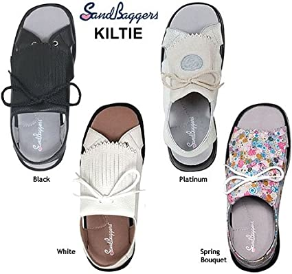 Sandbaggers Kiltie Womens Golf Sandals