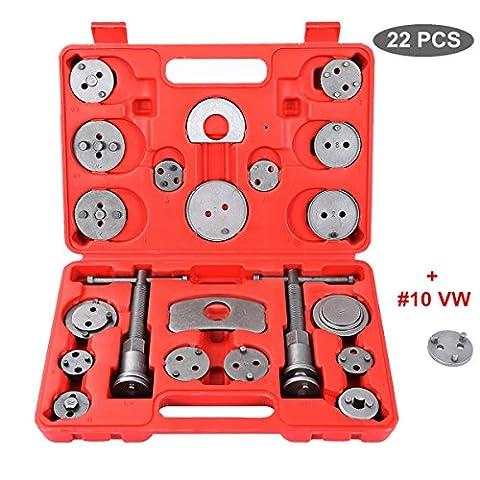 Ztech 22pcs Universal Disc Brake Caliper Piston Compressor Wind Back Repair Tool Kit for Cars - Cars Brakes
