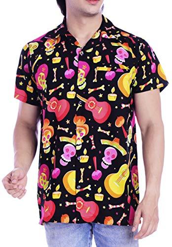 13 Ugly Men Halloween Party (Virgin Crafts Hawaiian Shirt Men Beach Holiday Party Casual Skull Printed Halloween)