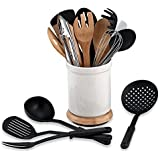 Denmark® Rotating 17-Piece Utensil Crock Set, Perfect For Utensil Organizing, Durable and Easy to Clean by Rotating 17-Piece Utensil Crock