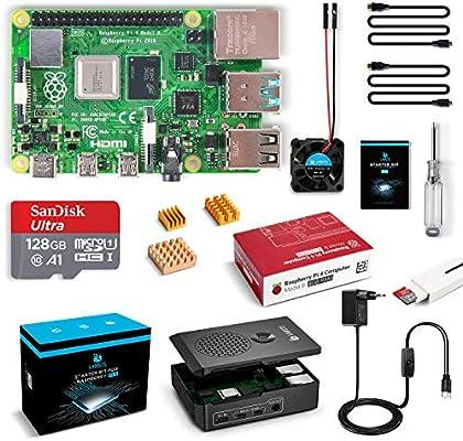 LABISTAS Raspberry Pi 4 8GB Kit Incluido Tarjeta SD 128GB Precargada con Raspberry Pi OS, Ventilador, 3 Disipadores ...