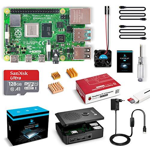 🥇 LABISTAS Raspberry Pi 4 8GB Kit Incluido Tarjeta SD 128GB Precargada con Raspberry Pi OS