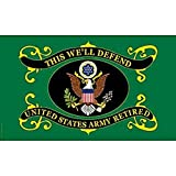 FindingKing United States Army Retired Flag 3ft x 5ft