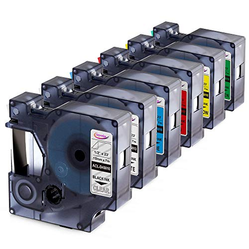- Anycolor Replacement for DYMO D1 Label Tapes Color Combo Set Equivalent DYMO 45010 45013 45016 45017 45018 45019 Compatible with DYMO LabelManager 160 280 420P PnP 220P 360D 450 210D, 6-Pack