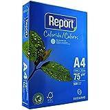 Papel Report A4 Color Azul 75 Gramas Pacote com 500 Folhas