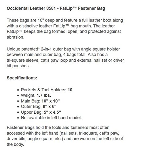 Occidental Leather 8581 FatLip Fastener Bag by Occidental Leather