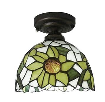 XNCH Lámpara de Techo Estilo Tiffany, luz de Techo barroca ...