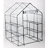 Deluxe Walk-In 6 Tier 8 Shelf Portable Plant Flower Gardening Greenhouse