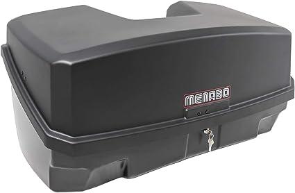 Menabo Nekkar Schwarz Transportbox Gepäckbox Für Kupplungsträger Heckträger 300 Liter Auto
