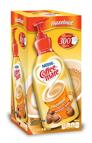 Nestle Coffee-mate Coffee Creamer, Hazelnut, 1.5L liquid pump bottle, Pack of 1 ()