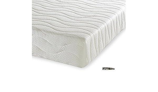 Extra colchón de látex ortopédico con Natural látex Talalay - Super King Size, 6 0 pies (180 x 200 cm) - Regular comodidad - con cremallera cubierta ...