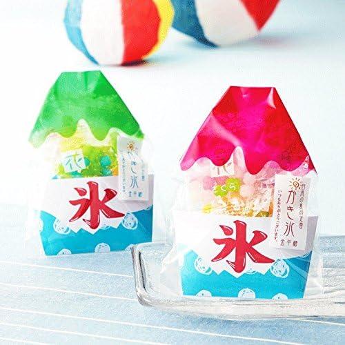 かき氷のような金平糖のプチギフト 1袋(カラフルなこんぺいとう小袋5種入り)【結婚式 二次会 ブライダル 夏 お祭り サマーウエディング サマーギフト】