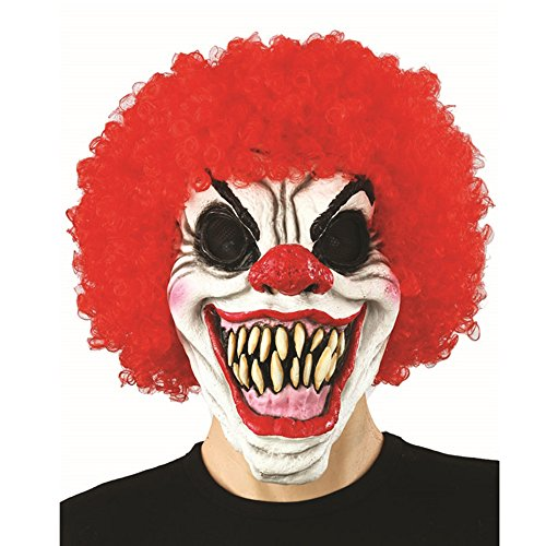 Acid Tactical Scary Creepy Halloween Clown Evil Latex Mask – Curly Clown