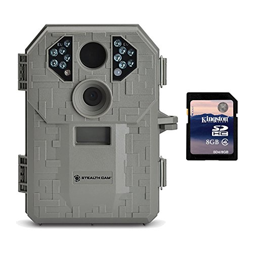 Cheap Stealth Cam P12 6MP Scouting Game Trail Camera with Video & Burst + 8GB SD Card