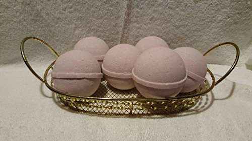 3 FRENCH LILAC Luxury Bath Bomb Fizzies, Large 5 Oz Each, Natural, Handmade in the USA with Shea, Mango & Cocoa Butter, Ultra Moisturizing (French Lilac FBA) - Lilac Shea Butter