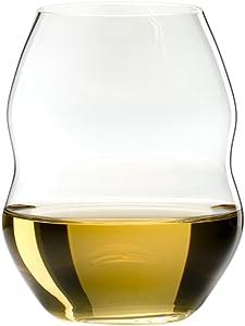 Riedel Swirl Stemless White Wine Glass, Set of 6